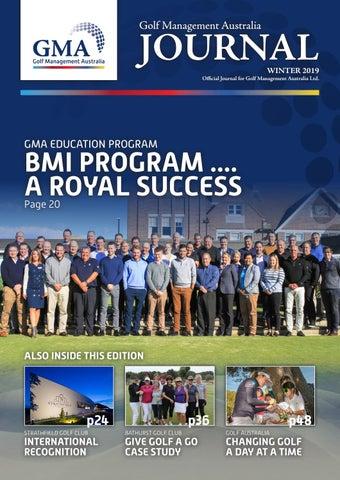 GMA Journal (Winter 2019) by Golf Management Australia - issuu on