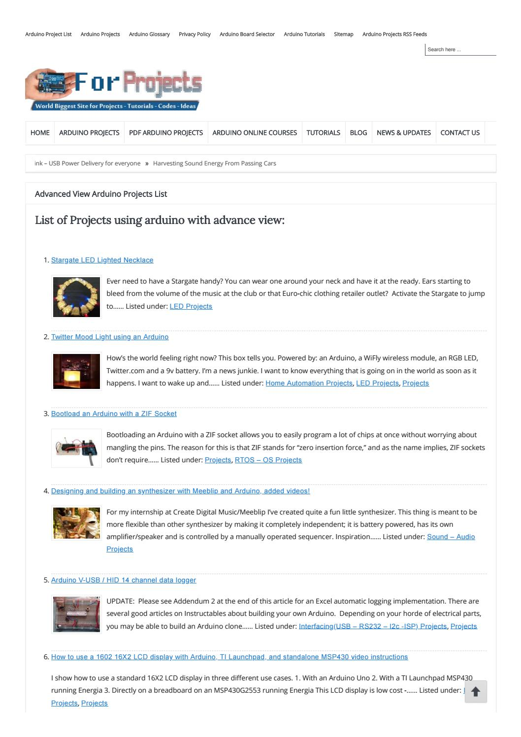 Advanced-View-Arduino-Projects-List-Part-4-Use-Arduino-for
