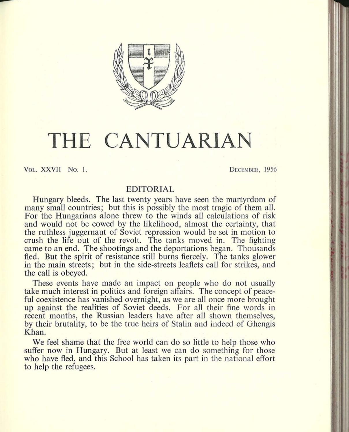 The Cantuarian December 1956 - April 1958 by OKS Association