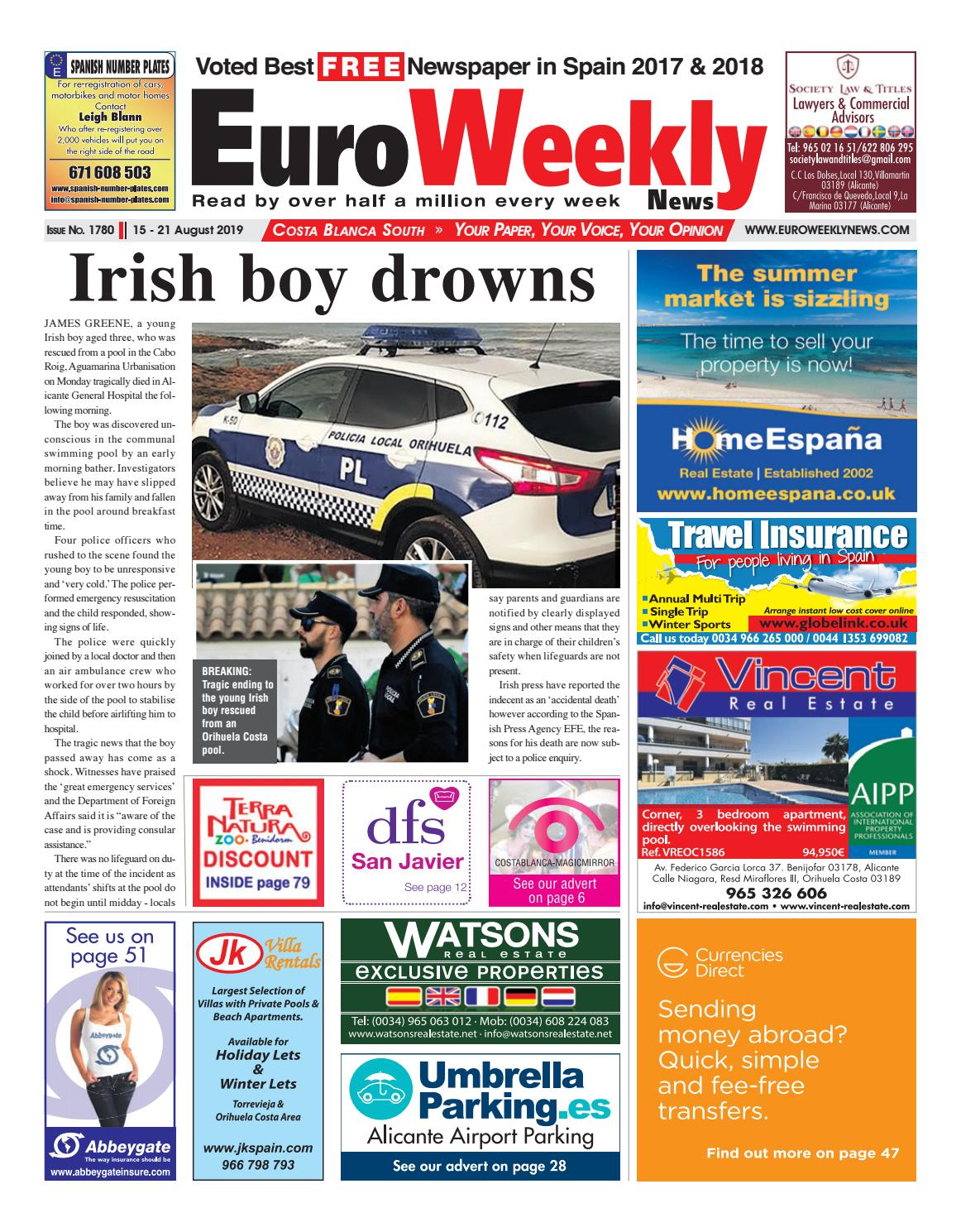 J Fernandez Colchones.Euro Weekly News Costa Blanca South 15 21 August 2019