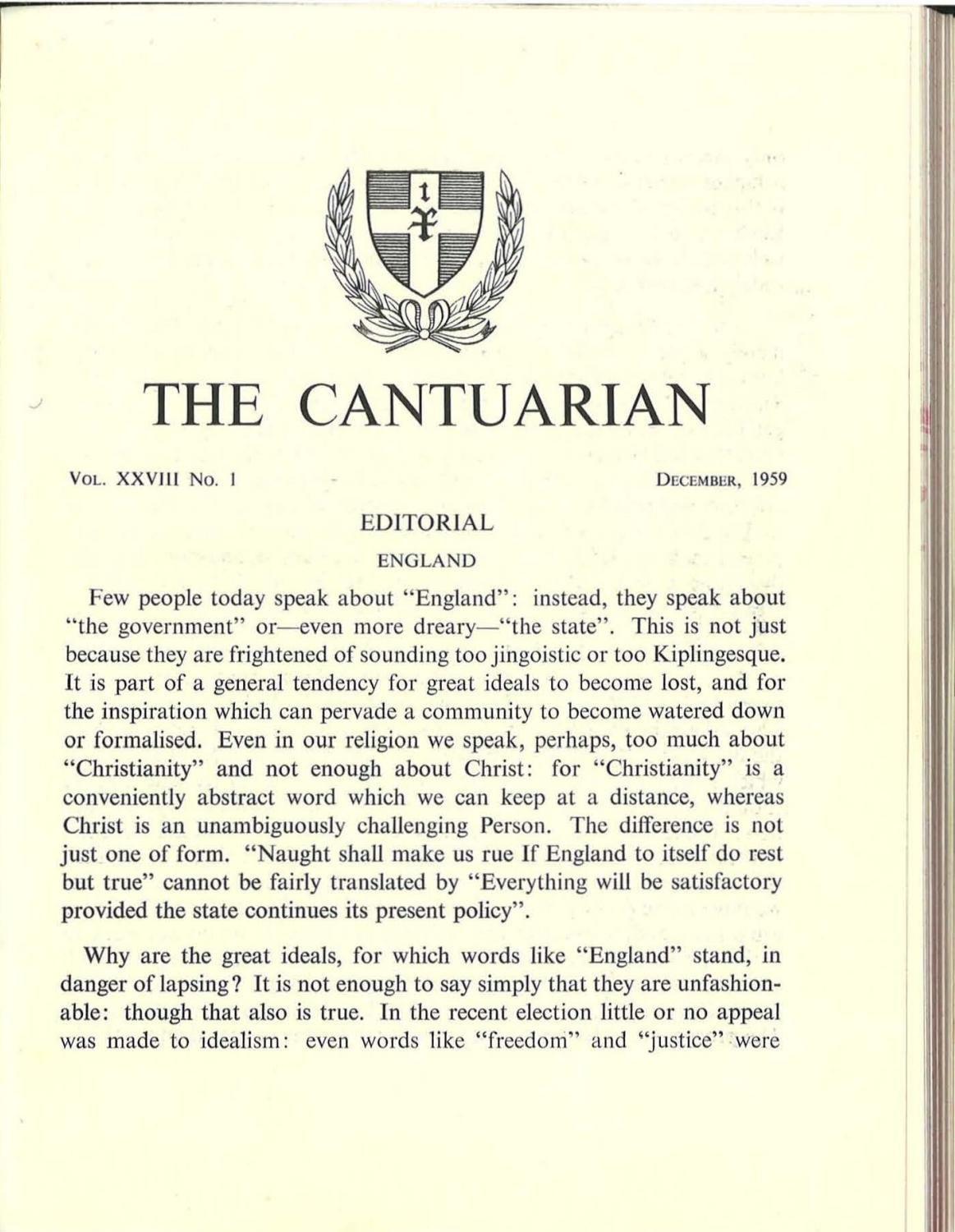 The Cantuarian December 1959 - August 1960 by OKS