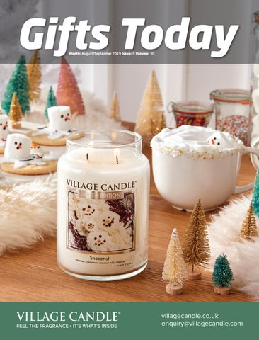 Binnenhuisinrichting Huis English Soap Company Festive Large Scented Soy Candle Winter Village Gift Boxed