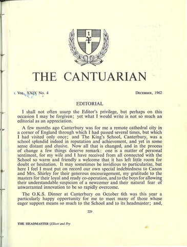 The Cantuarian December 1962 - August 1963 by OKS