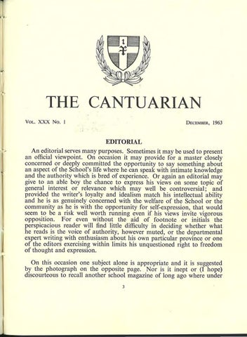 The Cantuarian December 1963 - August 1965 by OKS