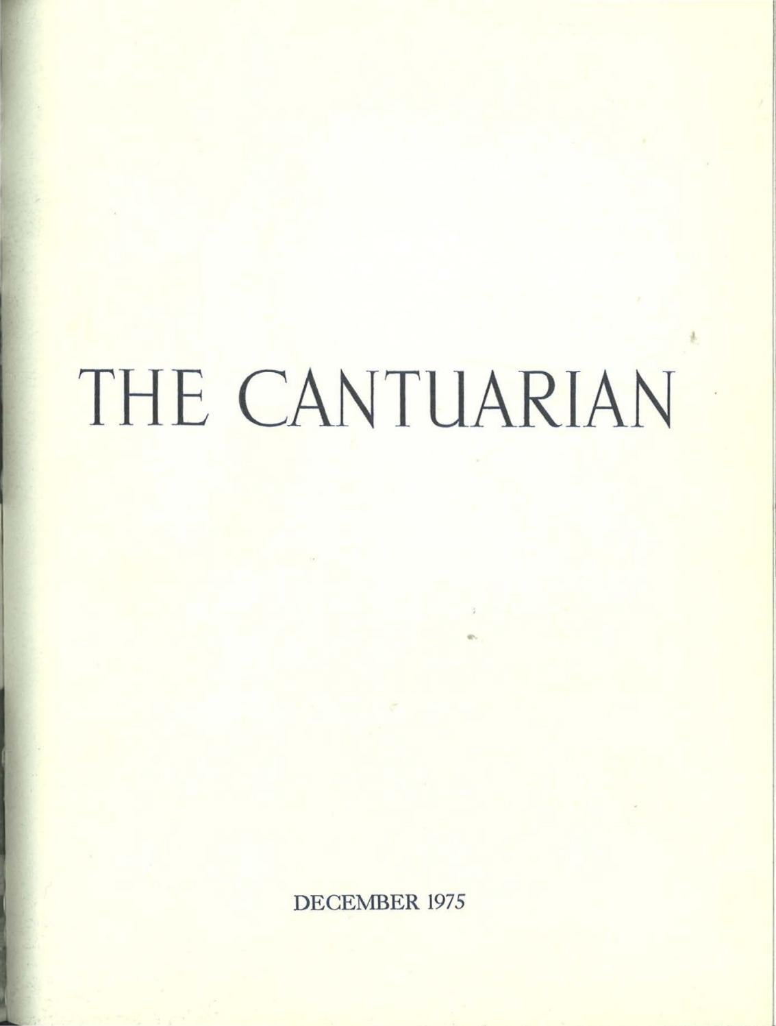 The Cantuarian December 1975 August 1976 By Oks