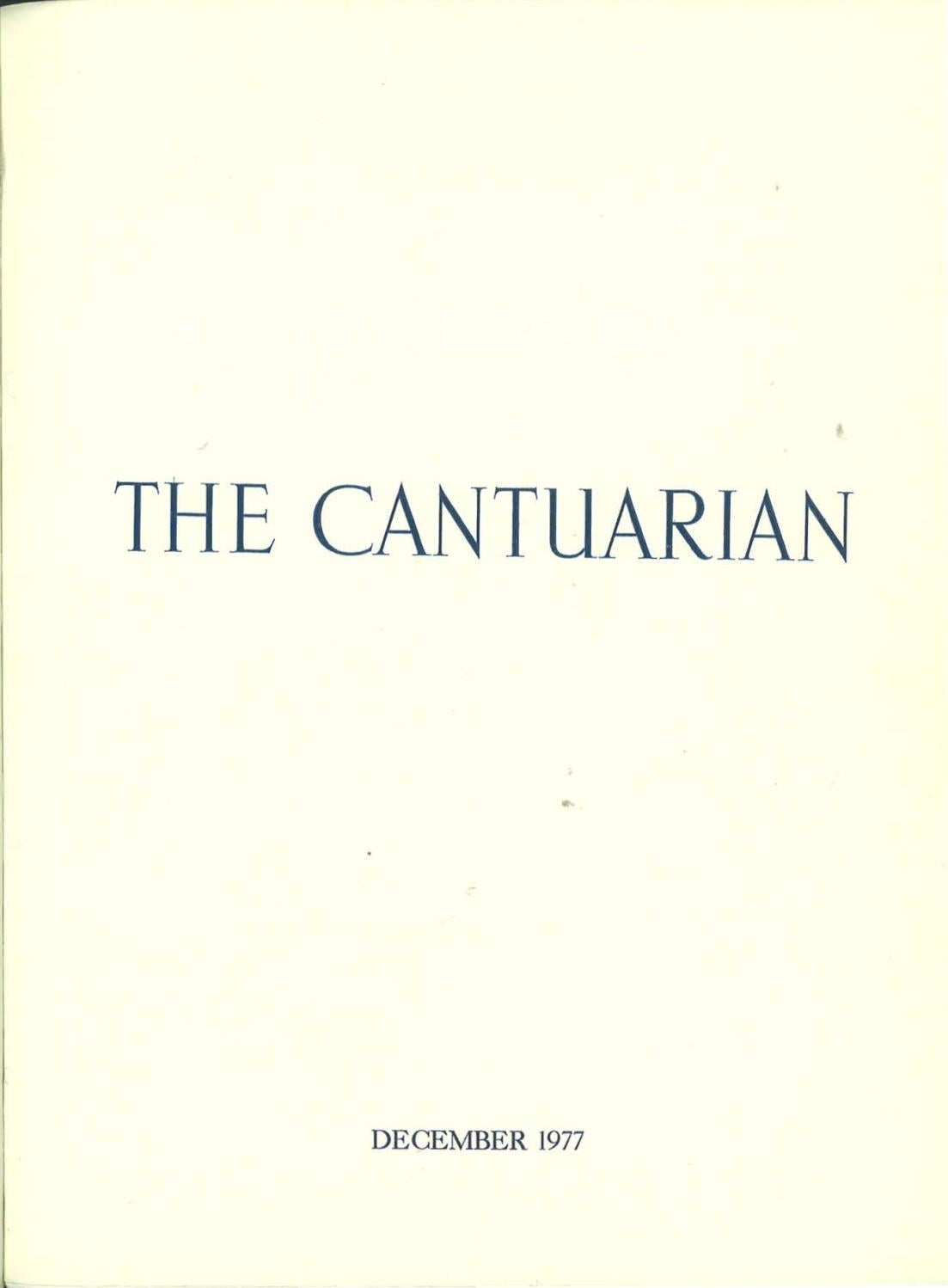 The Cantuarian December 1977 August 1978 By Oks Association Issuu