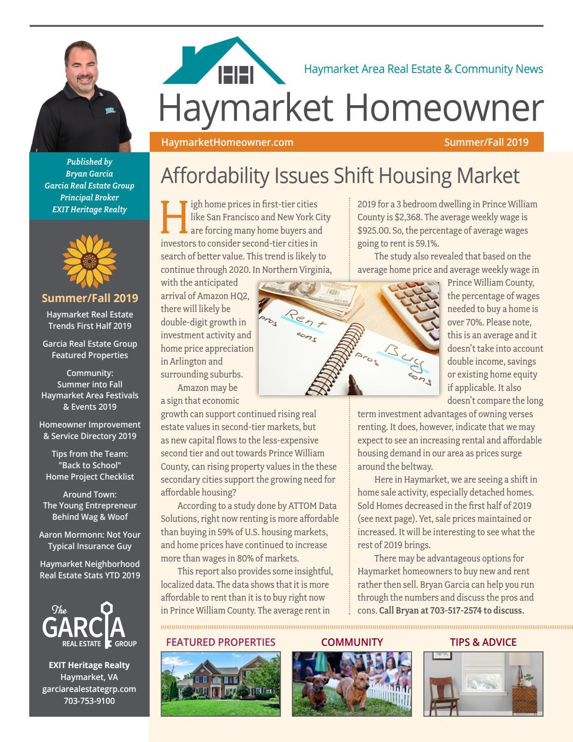 Haymarket Homeowner Summer/Fall 2019