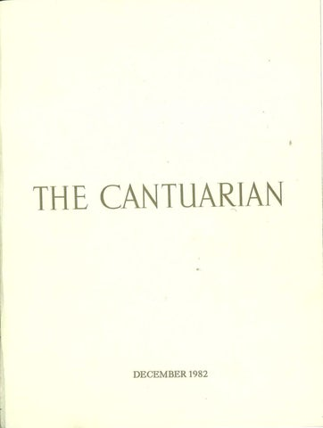 The Cantuarian December 1982 - August 1983 by OKS