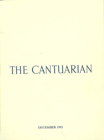 The Cantuarian December 1983 August 1984 By Oks