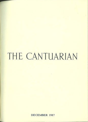 The Cantuarian December 1987 August 1988 By Oks