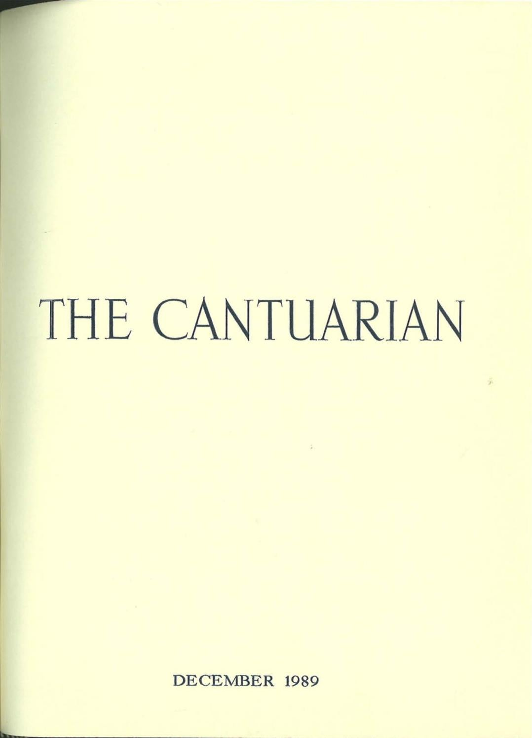 The Cantuarian December 1989 - August 1990 by OKS