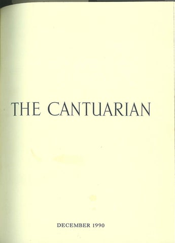 The Cantuarian December 1990 - August 1991 by OKS