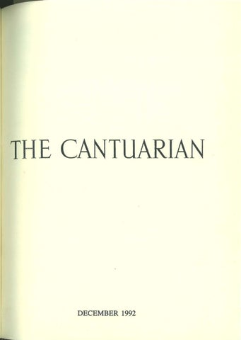 The Cantuarian December 1992 August 1993 By Oks