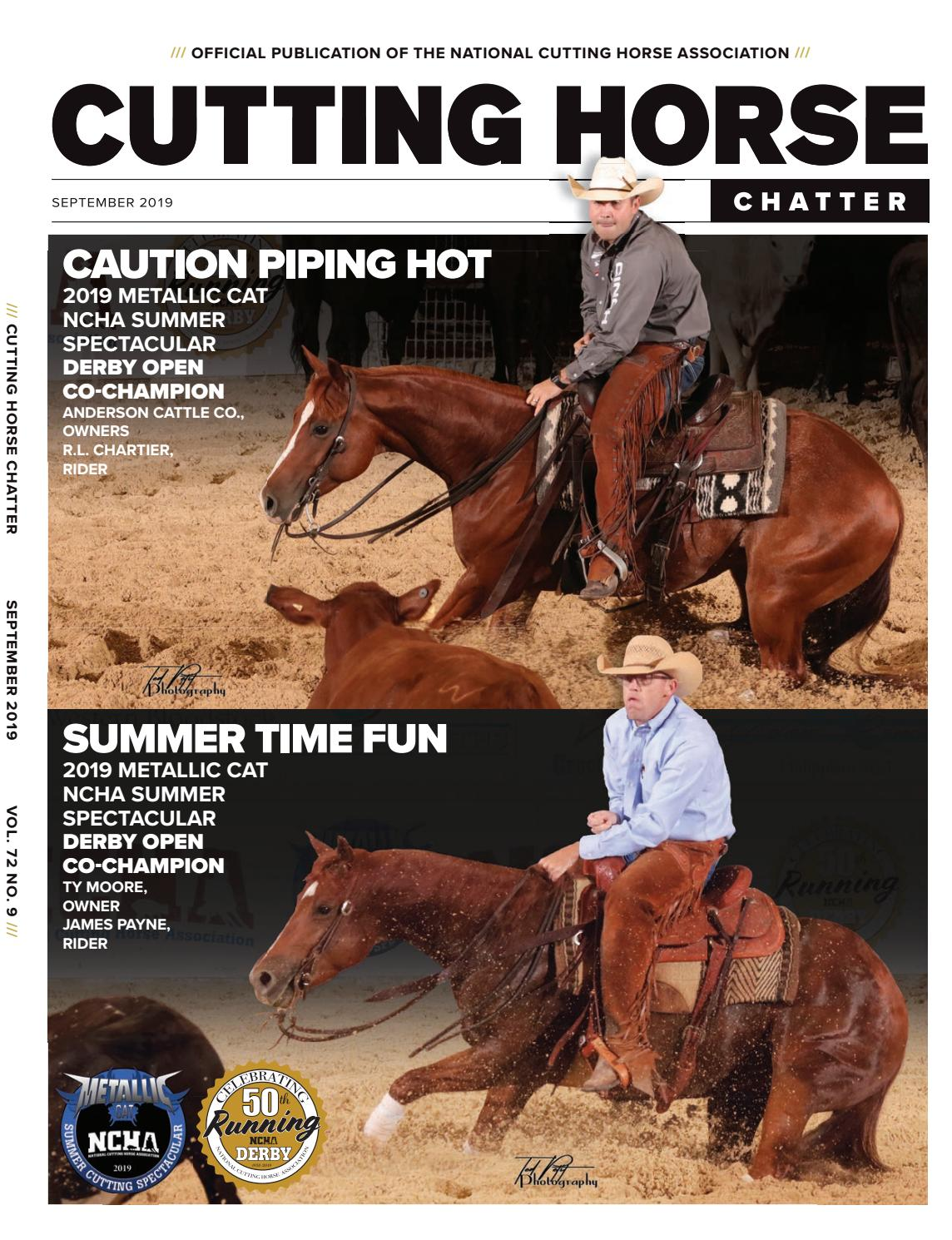 Cutting Horse Chatter September 2019 by Cowboy Publishing