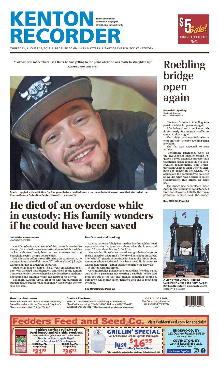 Kenton Recorder 08/15/19 by Enquirer Media - issuu