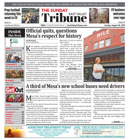 East Valley Tribune Southeast 08-18-2019 by Times Media