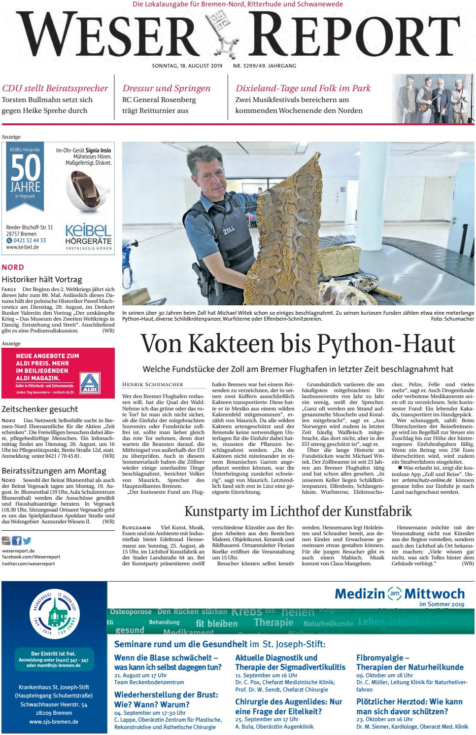 Weser Report Nord vom 18.08.2019 by KPS