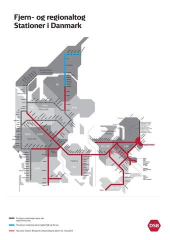 Fjern Og Regionaltog Stationer I Danmark Marts 2019 Dsb By