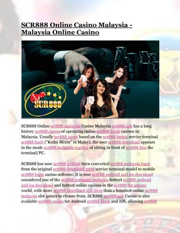 Scr888 Casino Malaysia Online By Jessicaoliver465 Issuu