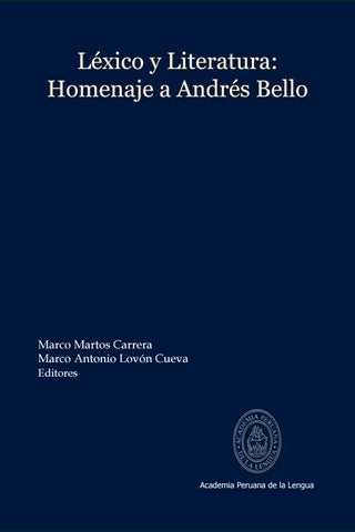 Lexico Y Literatura Andres Bello Linguistica By Avengers