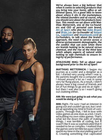 Page 59 of ATHLEISURE MAG JUL 2019 | SOMETHING YOU SHOULD KNOW WITH MATTHIAS METTERNICH