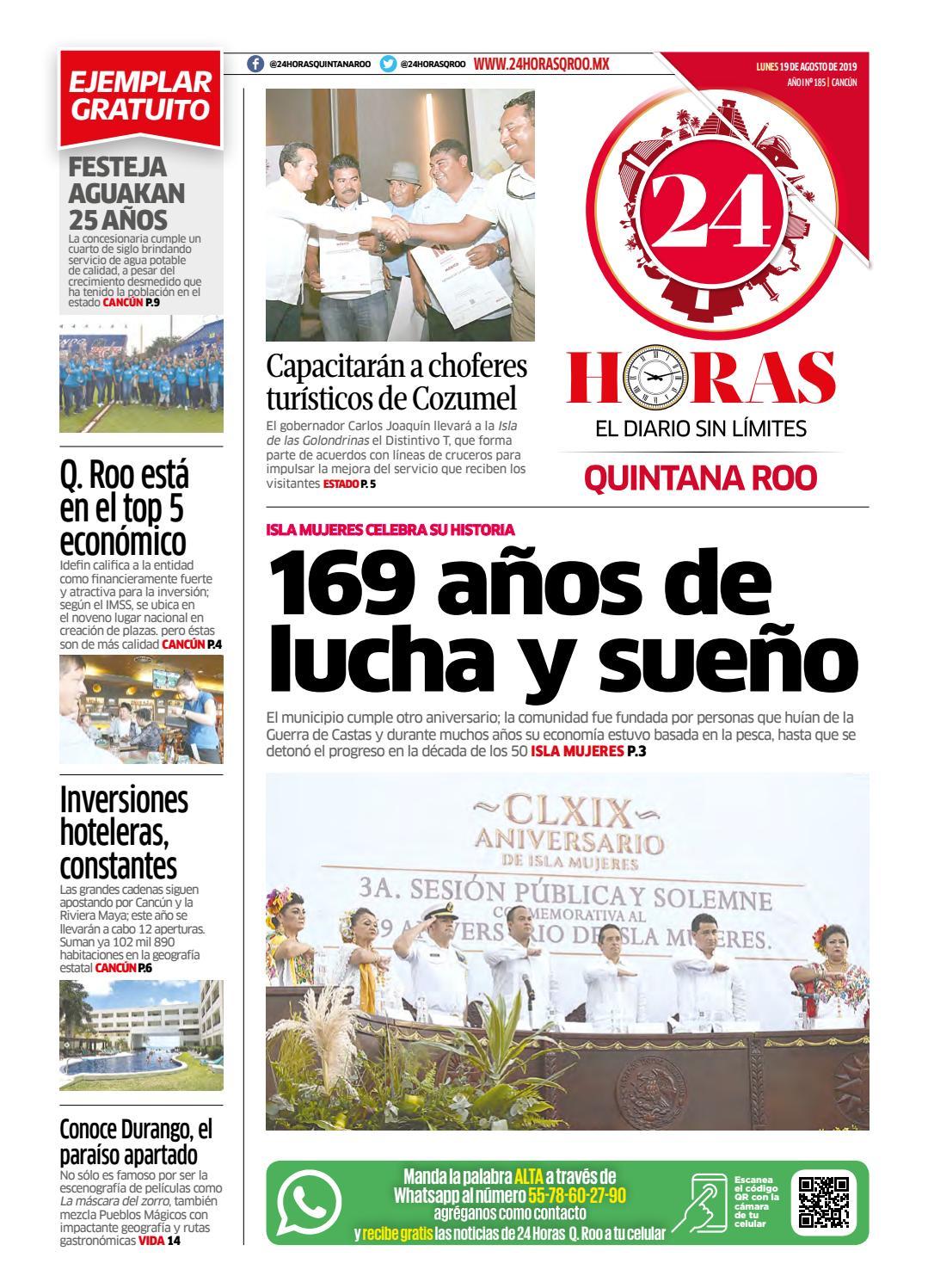 24 Horas Quintana Roo 19 De Agosto 2019 By 24 Horas