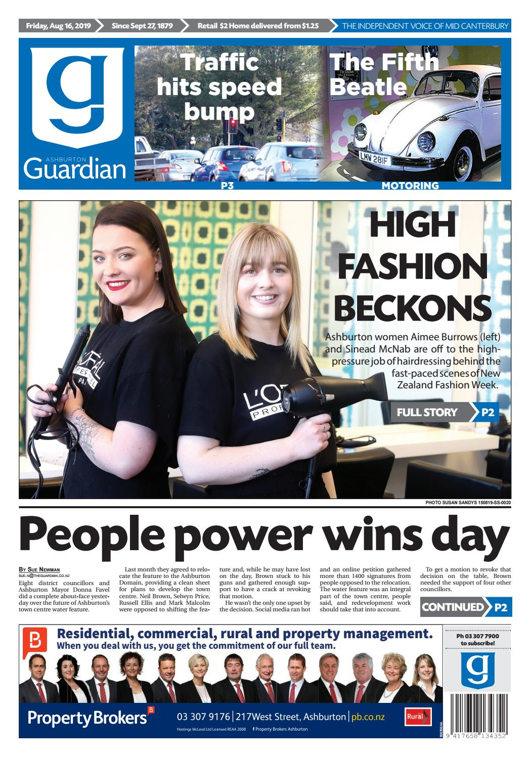 Ashburton Guardian, Friday, August 16, 2019 by Ashburton