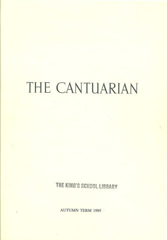 The Cantuarian Autumn 1995 Summer 1996 By Oks Association