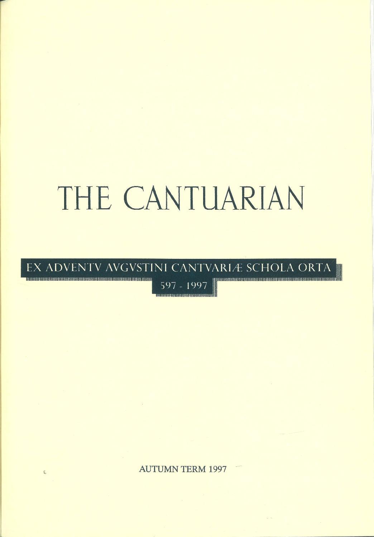 The Cantuarian Autumn 1997 - Summer 1998 by OKS Association