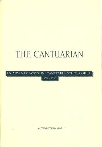 The Cantuarian Autumn 1997 Summer 1998 By Oks Association