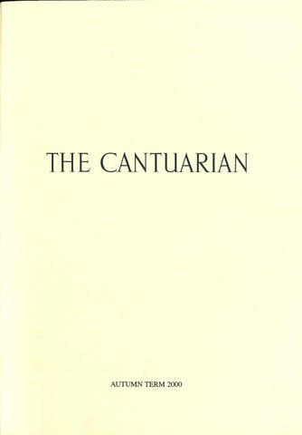The Cantuarian Autumn 2000 - Summer 2001 by OKS ociation ... on
