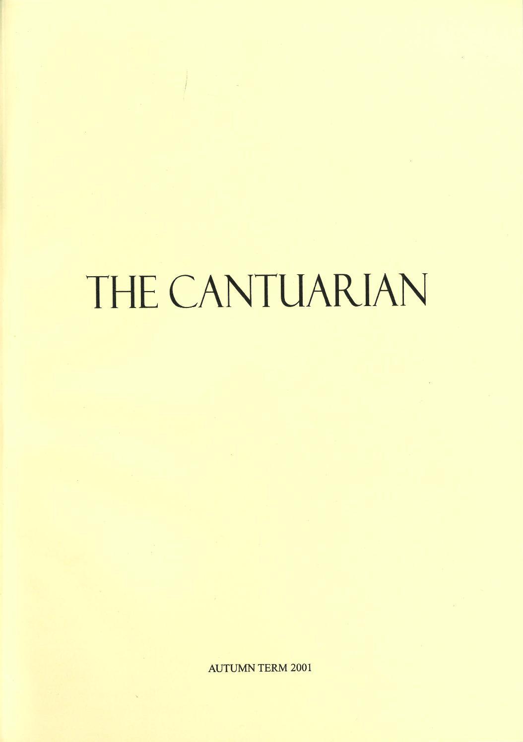 The Cantuarian Autumn 2001 Lent 2002 by OKS Association
