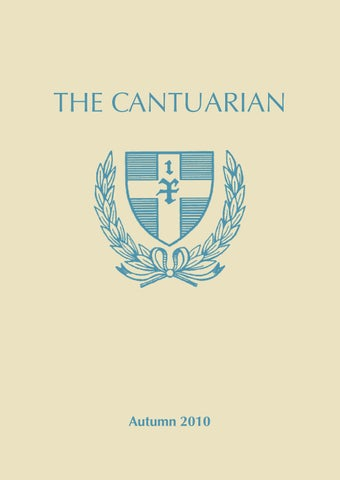 The Cantuarian 2010 2011 By Oks Association Issuu