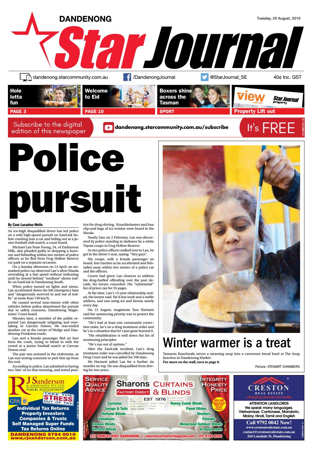 Dandenong Star Journal - 20th August 2019 by Star News Group