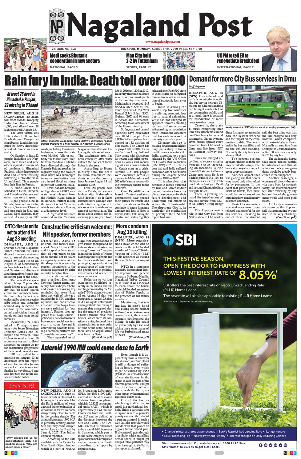 August 19, 2019 by Nagaland Post - issuu