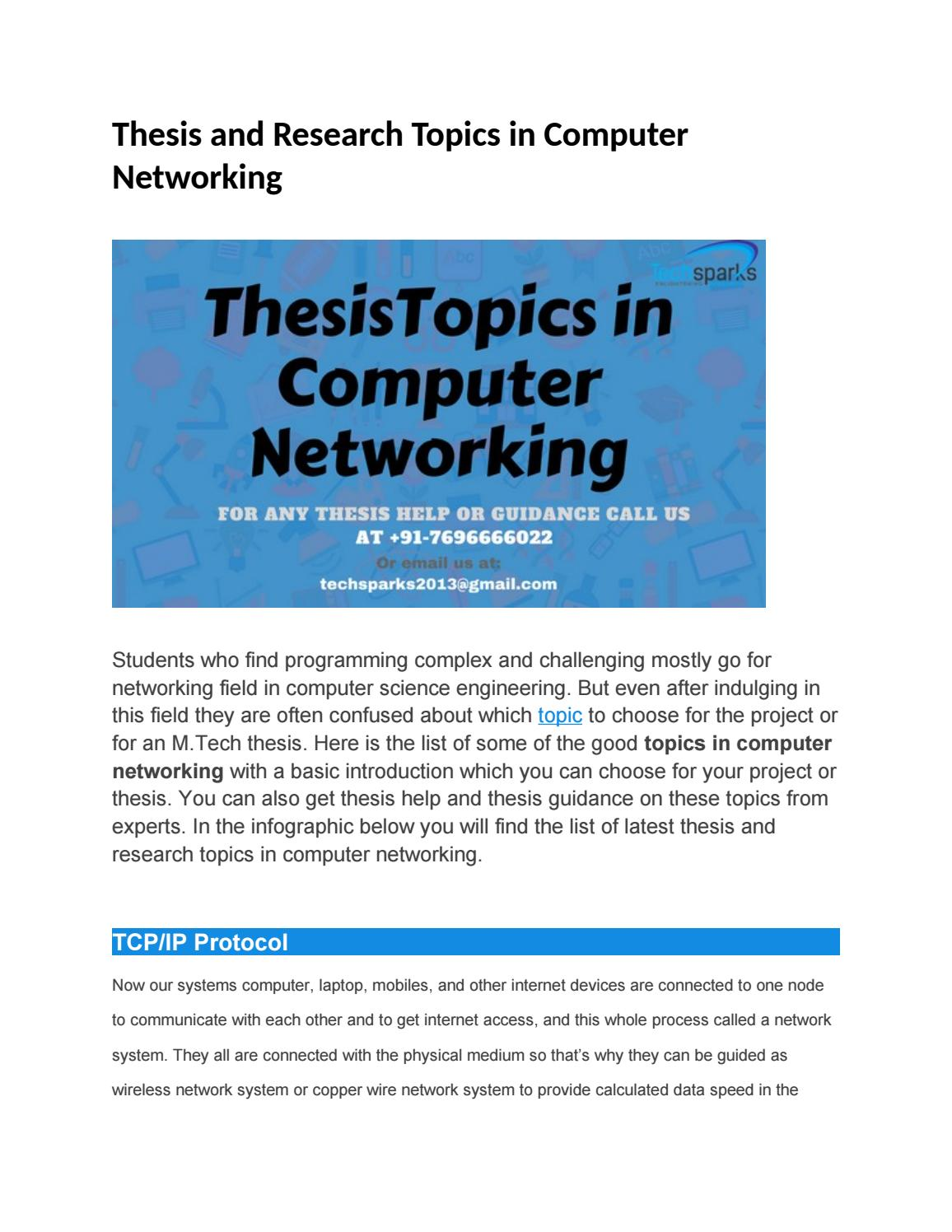 Tcp/ip thesis esl report ghostwriter services for mba