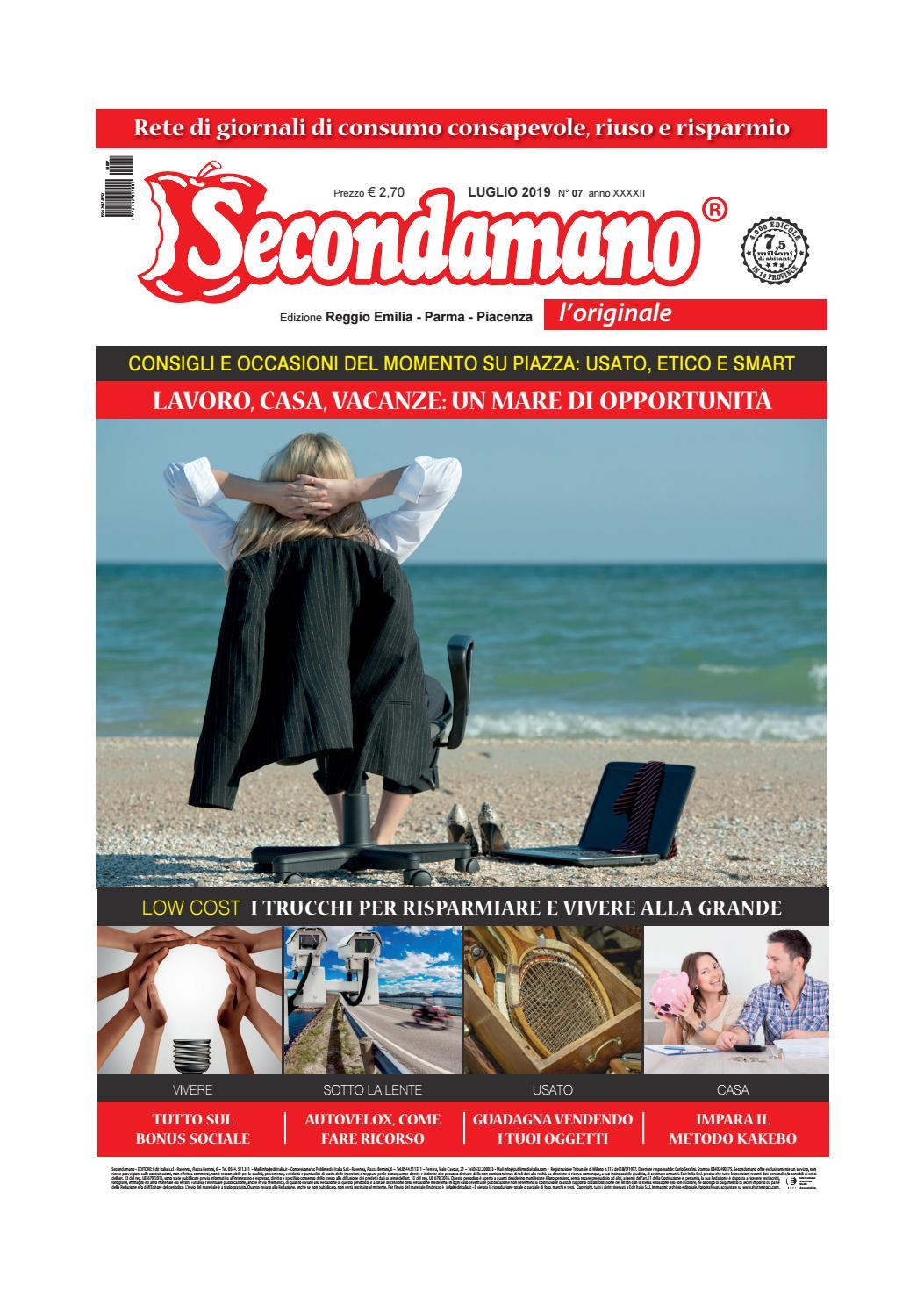 Secondamano Parma Piacenza Reggio Emilia Luglio 2019 By Edit