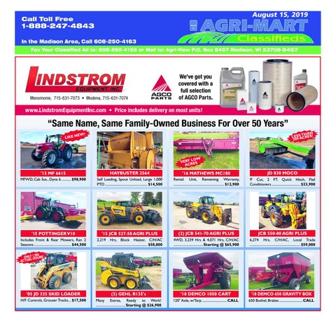 August 15, 2019 AgriMart by Madison com - issuu