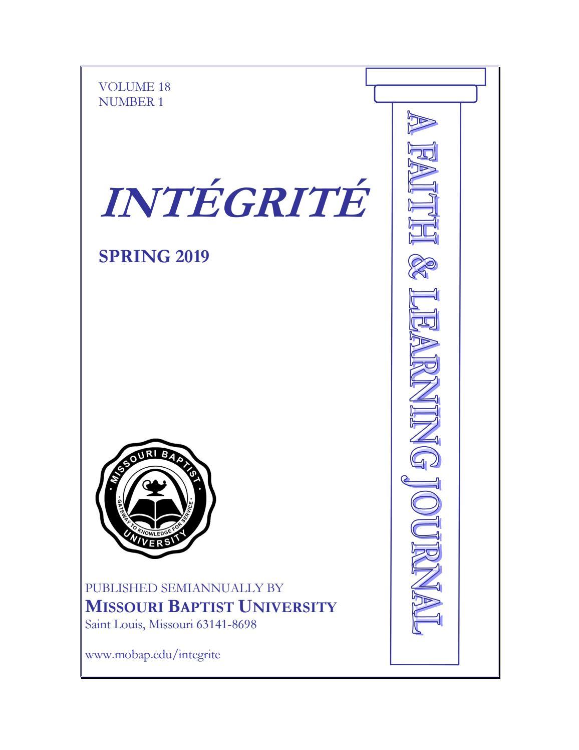 Intégrité | Spring 2019 by Missouri Baptist University - issuu