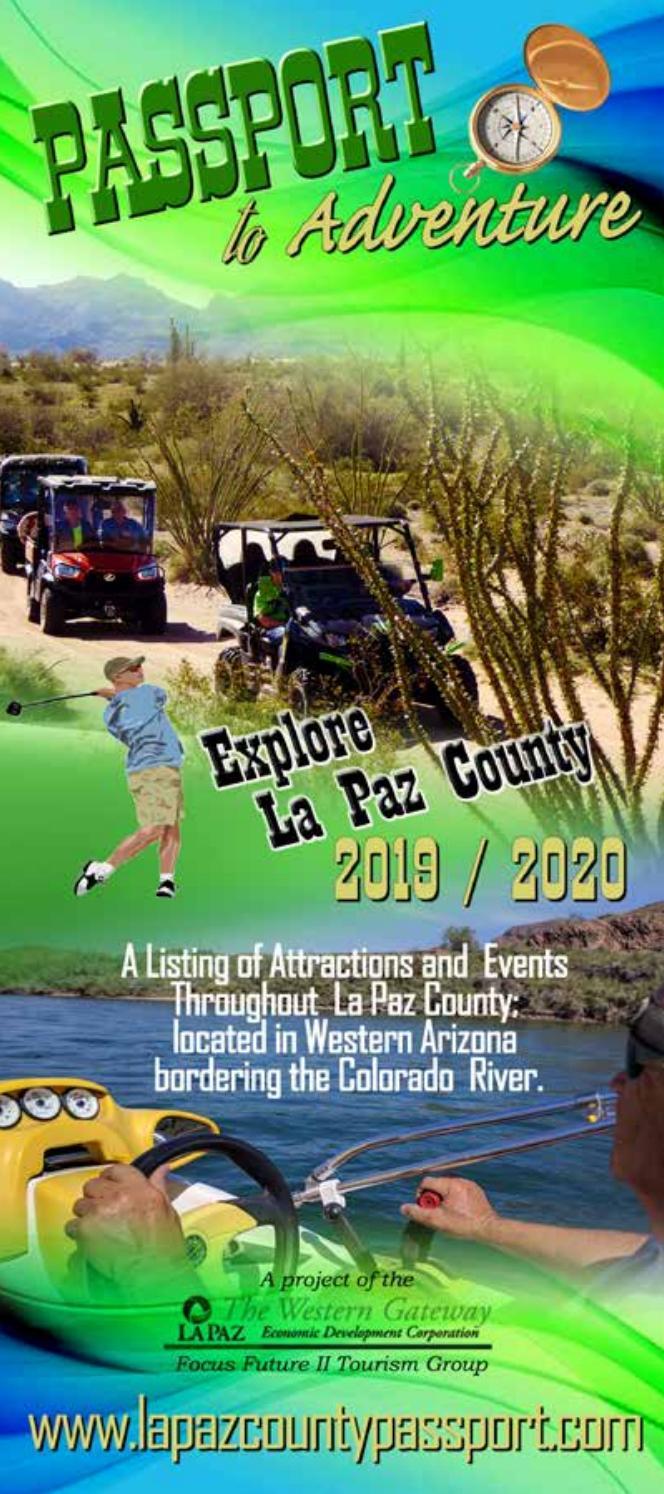 Quartzsite Gem Show 2020.La Paz County Tourism Passport To Adventure 2019 2020 By La