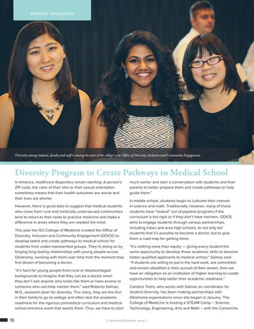 Page 16 of Diversity Program to Create Pathways to Medical School