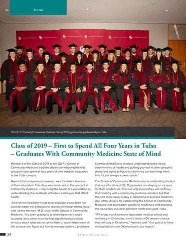 Page 34 of Class of 2019 – First to Spend All Four Years in Tulsa – Graduates With Community Medicine State of Mind