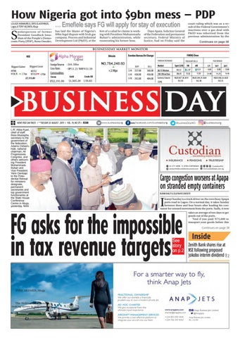 BusinessDay 20 Aug 2019 by BusinessDay - issuu