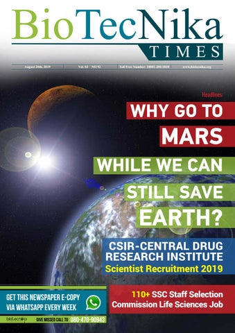 FREE DOWNLOAD - Biotecnika Times Weekly Magazine 20th August
