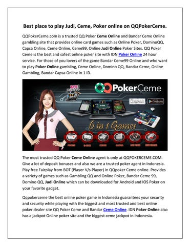 Judi Qq Poker Ceme Online Agen Poker Online Uang Asli Indonesia By Qqpoker Ceme Issuu