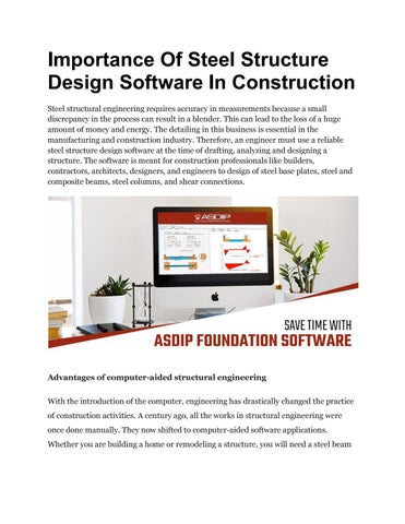 Importance Of Steel Structure Design Software In Construction By Ashbresnan Issuu
