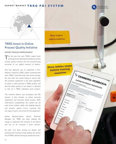 Page 40 of TRRG Invest in Online Process-Quality Initiative