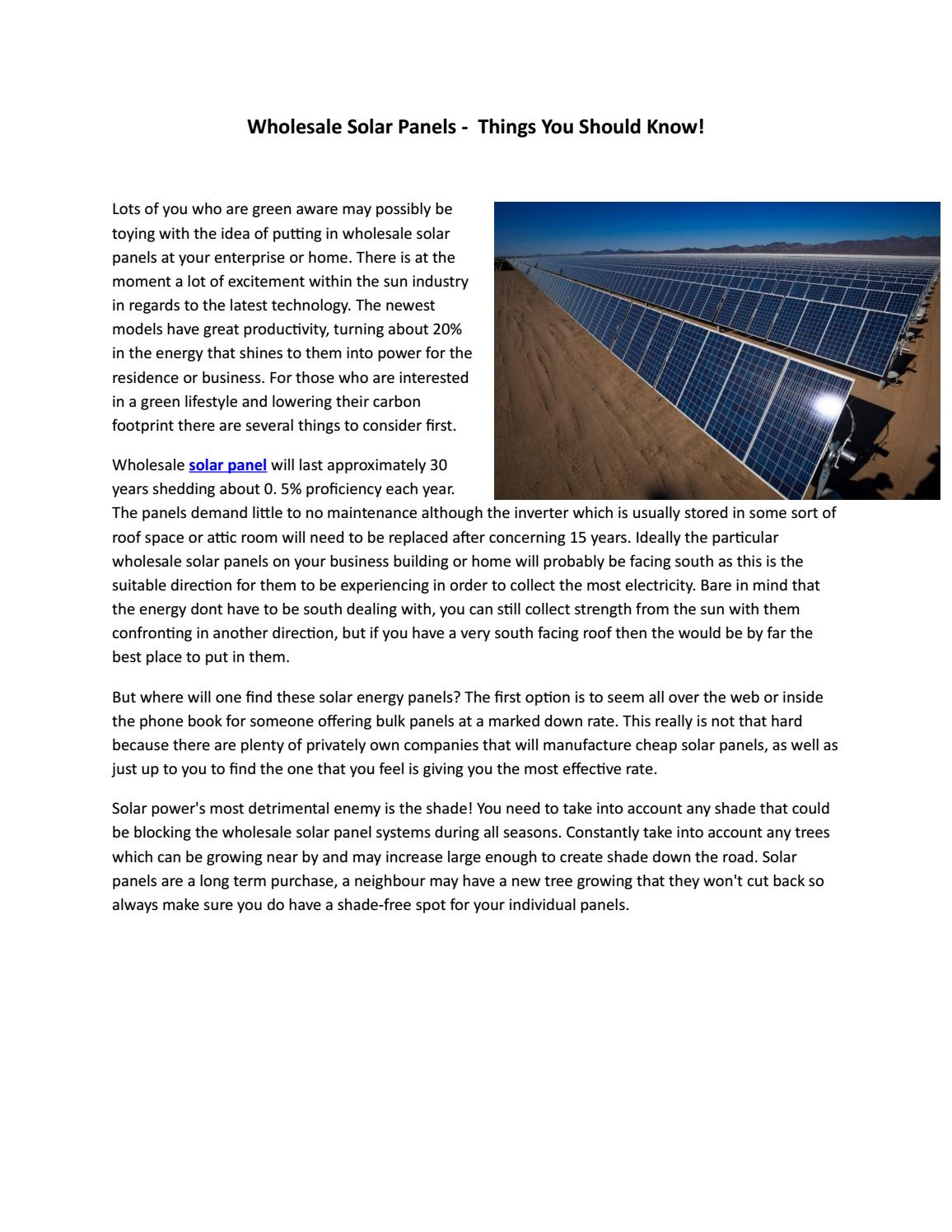 Solar Panels For Your Home >> Wholesale Solar Panels Power To Your Home By Timclow Issuu