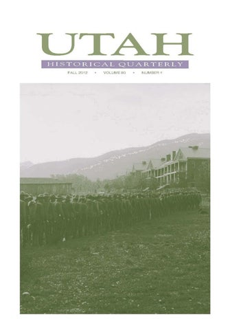 Utah Historical Quarterly Volume 80 Number 4 2012 By Utah