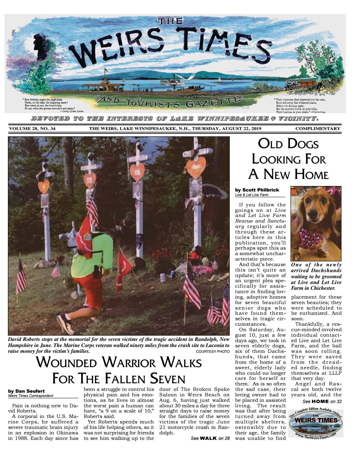 08/22/19 Weirs Times by The Weirs Publishing Company - issuu